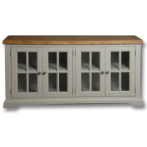 Rio Stone Painted 4 Door Glass Display Unit