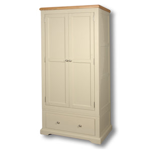 Rio Stone Painted 2 Door 1 Drawer Single Wardrobe