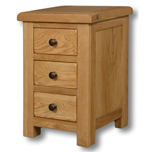 Manhattan Oak 3 Drawer Mini Bedside