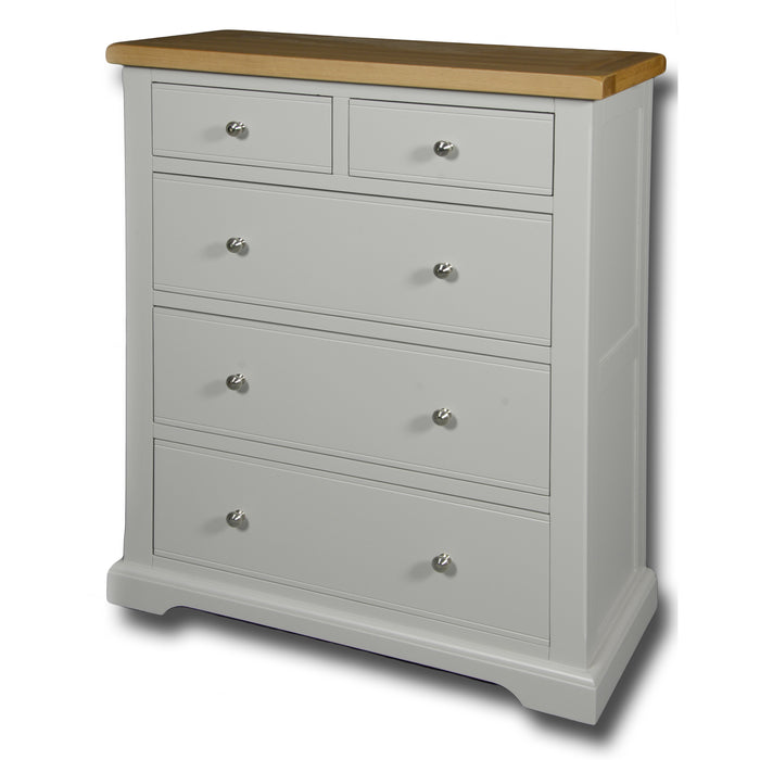 Rio Grey Painted 2 over 3 Jumbo Chest