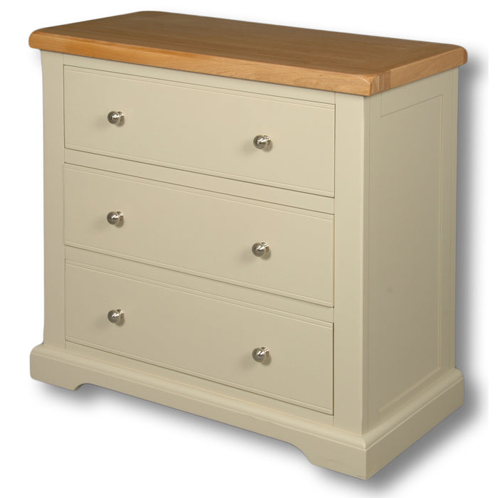 Rio Stone Painted 3 Drawer Wide Wellington