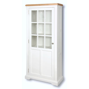 Rio Snow White Painted Medium Display Cabinet