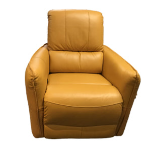 Oslo Yellow Leather Armchair
