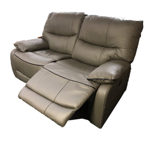 Michigan Grey 2 Seater Leather Recliner
