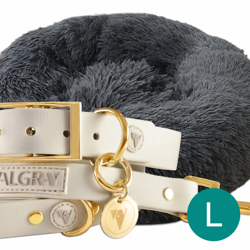 fb-feed - Main Product Image - Ultimate Large Pet Set (Premium & Plush Iremía Pet Bed, Luxury Valgray Dog Collar & Luxurious Valgray Dog Leash) Combo From Pets Planet | SA's No.1 ePet Store for Premium Pet products, dog collars, dog leashes & pet beds