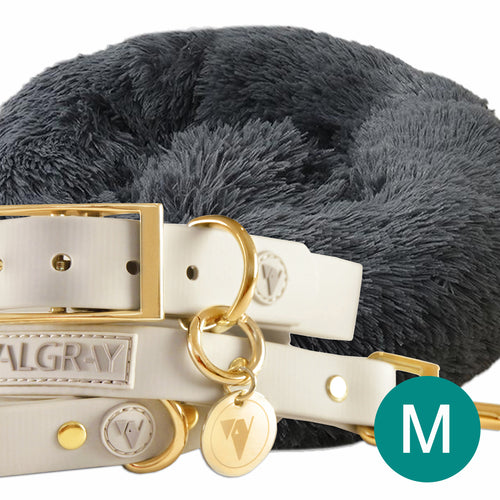 fb-feed - Main Product Image - Ultimate Medium Pet Set (Premium & Plush Iremía Pet Bed, Luxury Valgray Dog Collar & Luxurious Valgray Dog Leash) Combo From Pets Planet | SA's No.1 ePet Store for Premium Pet products, dog collars, dog leashes & pet beds