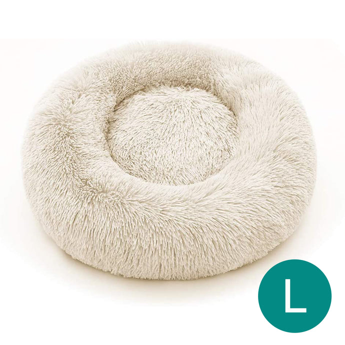 Cream Large Iremía™ Luxurious & Plush Pet Bed From Pets Planet | South Africa's No.1 ePet Store for Pet products, dog peds, dog collars & dog leashes