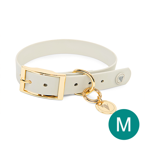 Main Product Image - Medium Luxury Grey & Gold Valgray Dog Collar From Pets Planet | SA's No.1 ePet Store for Premium Pet products, dog collars, dog leashes & pet beds