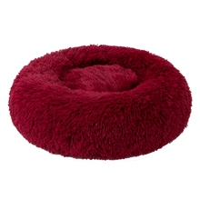 Load image into Gallery viewer, Red Velvet Iremía Pet Bed Product Image - Ultimate Large Pet Set (Premium & Plush Iremía Pet Bed, Luxury Valgray Dog Collar & Luxurious Valgray Dog Leash) Combo From Pets Planet | SA's No.1 ePet Store for Premium Pet products, dog collars, dog leashes & pet beds