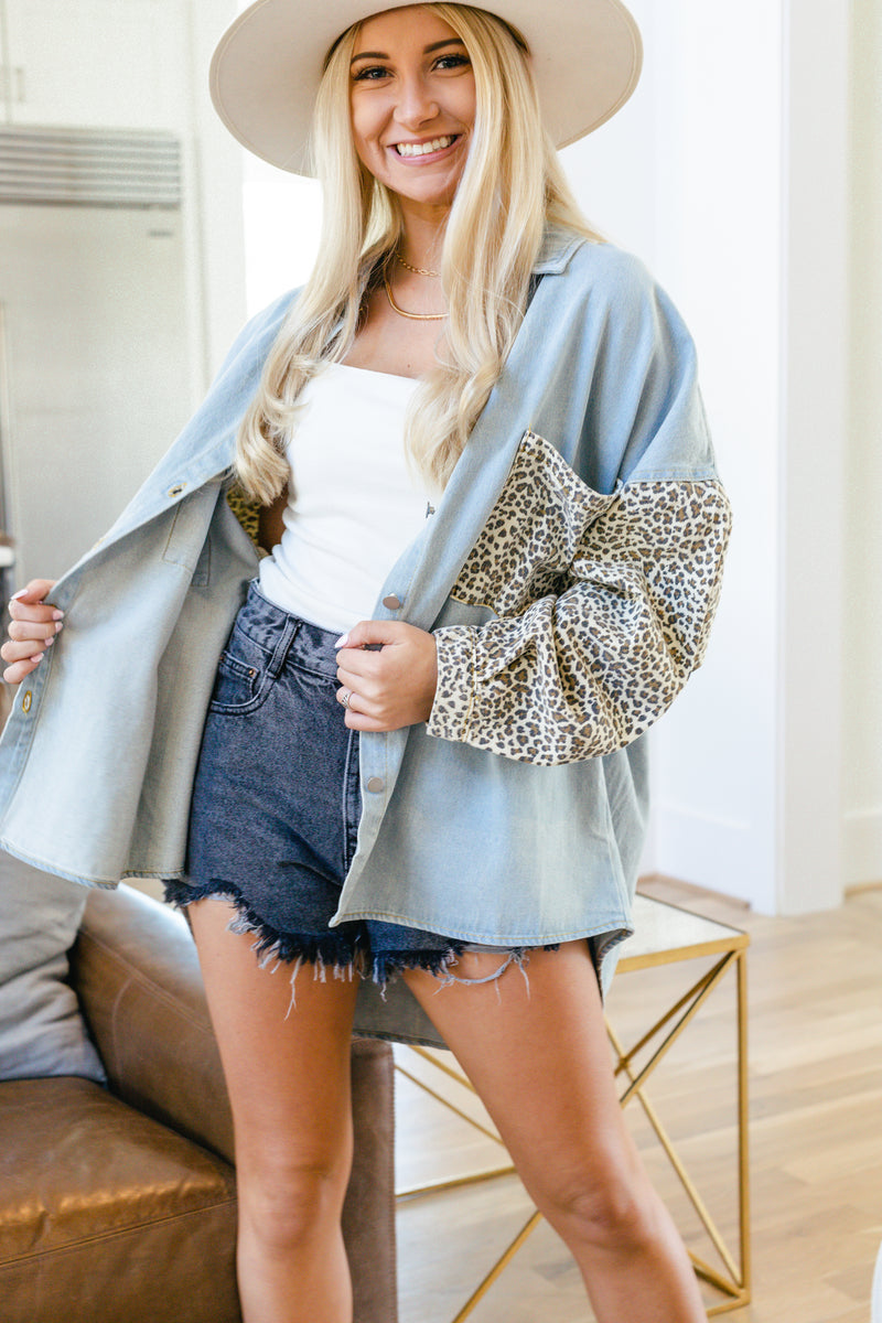 Flirting with Fate Jacket - Denim