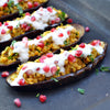 Spiced Lentil-stuffed Aubergines