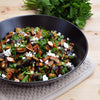 Roasted Aubergine Salad with Smoked Almonds and Goat's Cheese