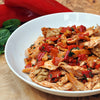 Shredded Chicken with Red Pepper and Walnut Relish