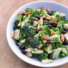 Broccoli Salad with Apples, Cranberries and Toasted Almonds