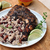 Jamaican Jerk Chicken with Rice and Peas