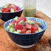 Tomato Cucumber and Poppy Seed Salad