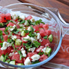 Watermelon Salad with Cucumber, Mint and Goat's Cheese