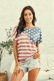 Women's Relaxed fit American Flag Retro Top