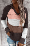 Brown Beach Bonfire Knitted Hoodie