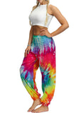Multicolor Boho Tie-dye Casual Loose Hippy yoga Harem Pants