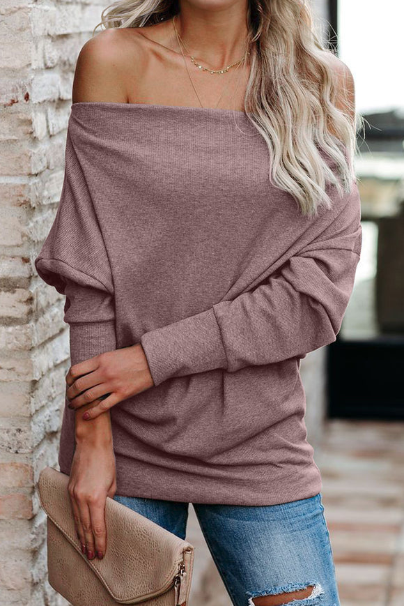 Cute Pink Ribbed Zip Knit Top