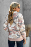 Women's  Sherpa Long Sleeve Pullover Sweatshirt Soft  1/4 zip