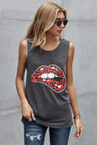 Leopard Lips Distressed graphic T Shirt