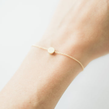 Geometric Gold Dot Bracelet