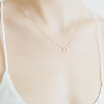 Geometric Gold Karma Necklace