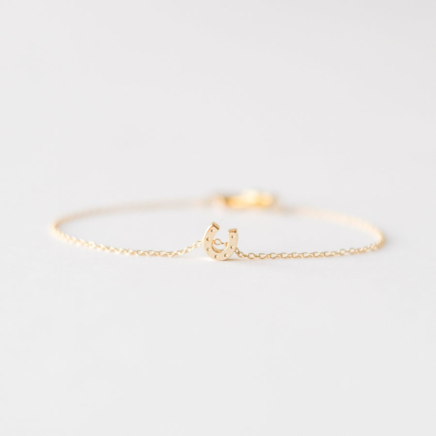 Gold Horseshoe Bracelet