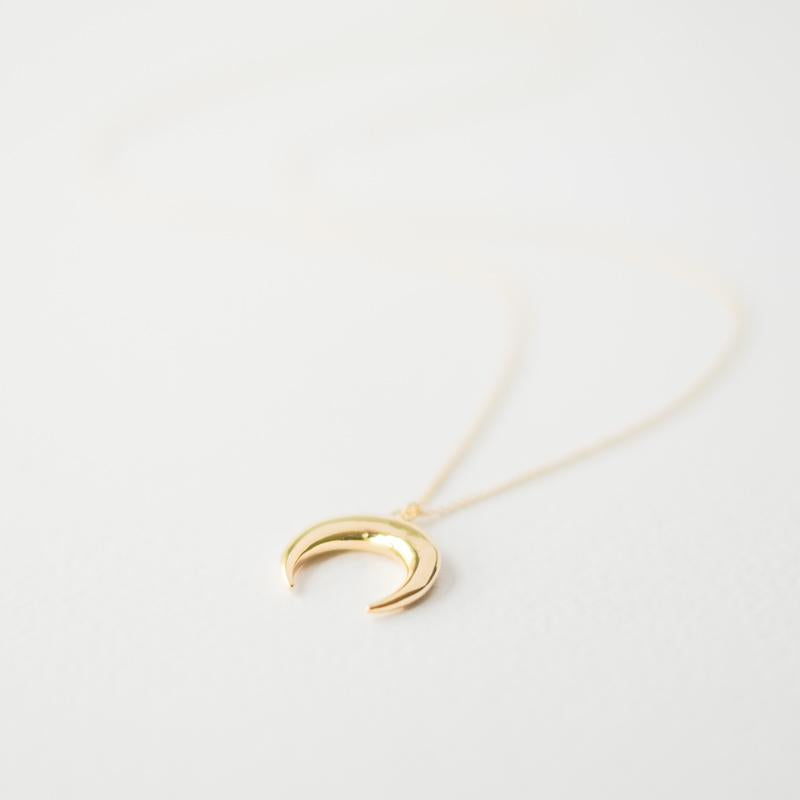 Gold Ox Horn Necklace