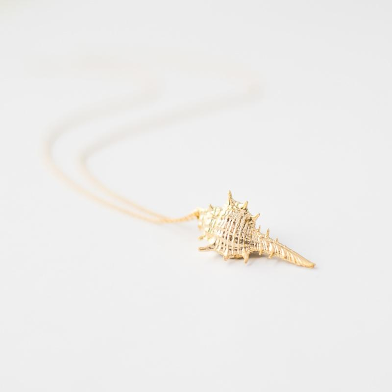 Gold Seashell Necklace
