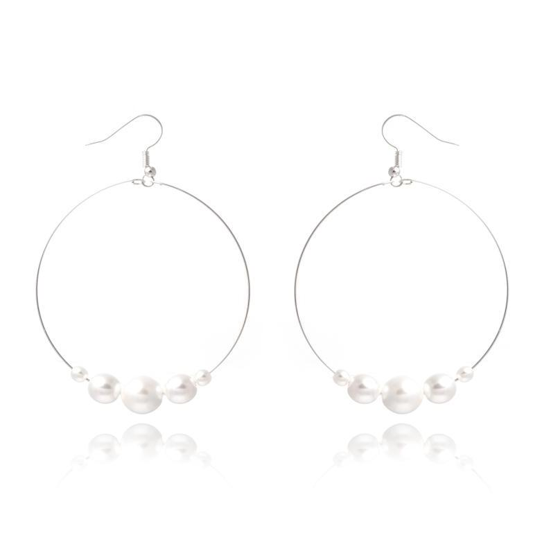 Pearl Hoop Earrings