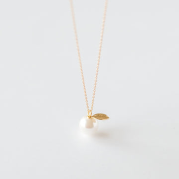 Pearl and Leaf Necklace