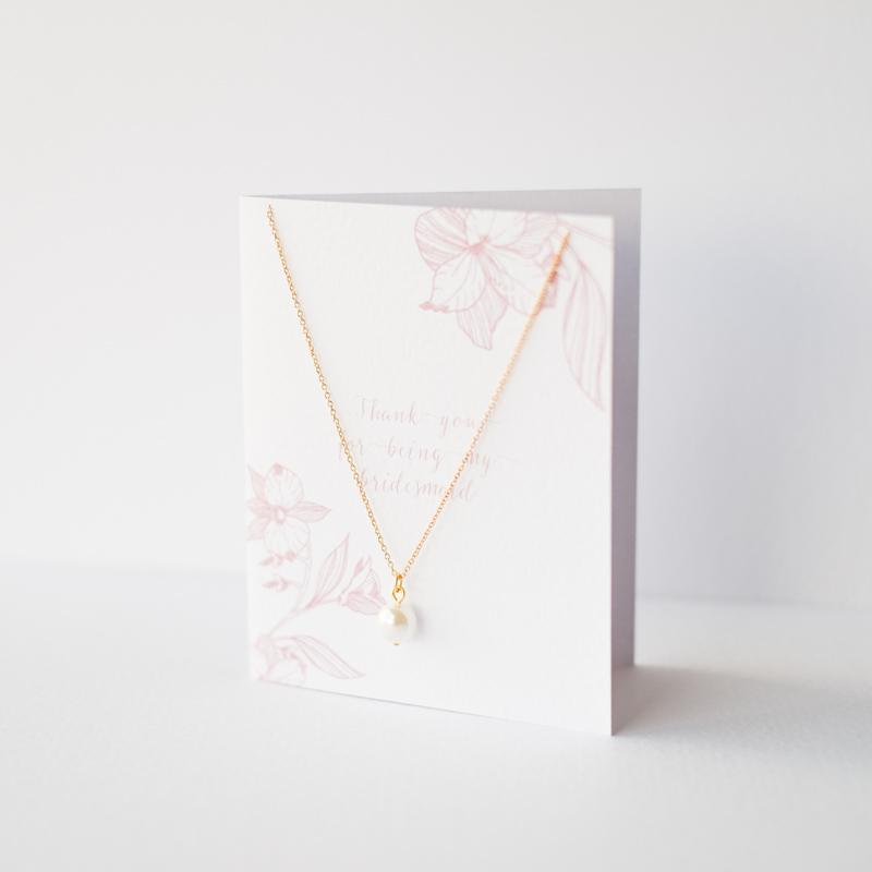 Personalised Gift for Bridesmaids Necklace