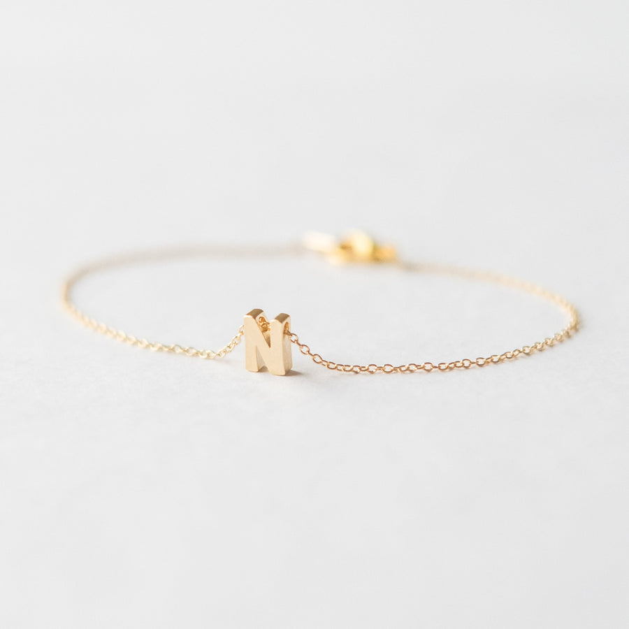 Personalised Gold Letter Bracelet