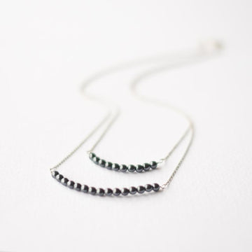 Silver Black Pearl Necklace