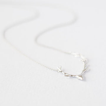 Silver Deer Necklace