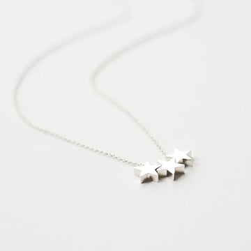 Silver Three Stars Necklace