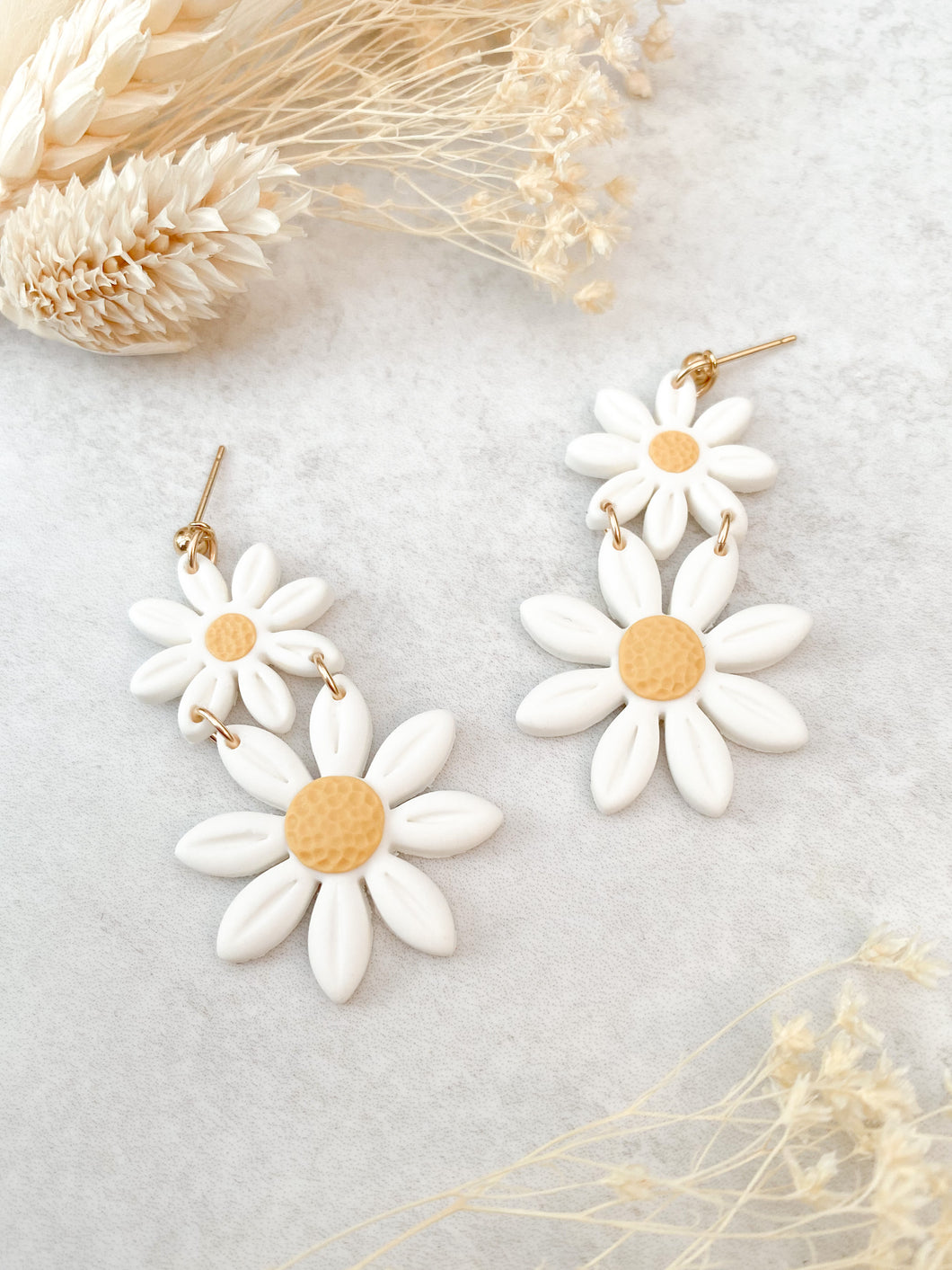 Double Daisy Dangles