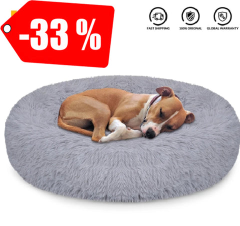 Dog Bed Super Soft Kennel Round
