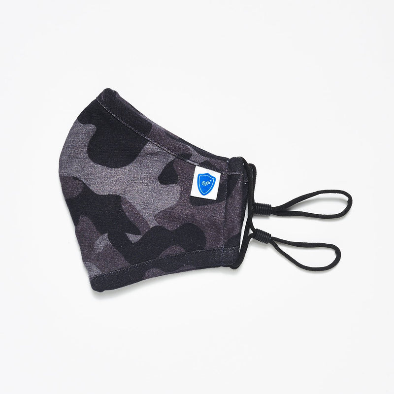 Grey Melange, Blue Camouflage and Navy Face Masks - 3 Pack