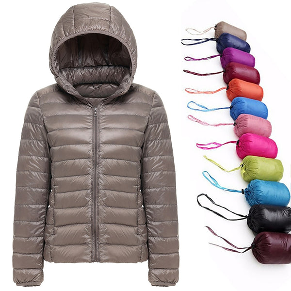 Hooded Ultralight Duck Down Jacket - Ragnar Sports - Free Shipping in the US