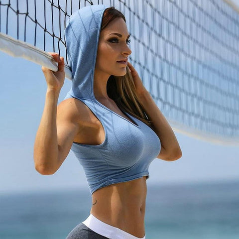 Hoodie Crop Top - Ragnar Sports - Free Shipping in the US