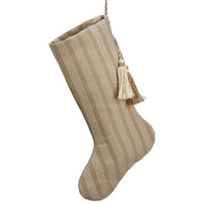 Striped Linen Stocking - Sarah Virginia Home