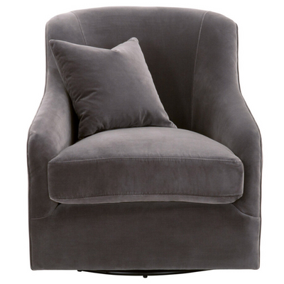 Mona Swivel Chair (Dark Gray) - Sarah Virginia Home