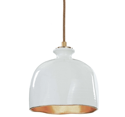 Glossy White Ceramic Pendant - Sarah Virginia Home