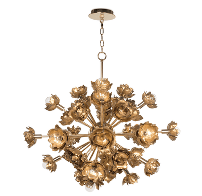 Golden Fiore Burst Chandelier - Sarah Virginia Home