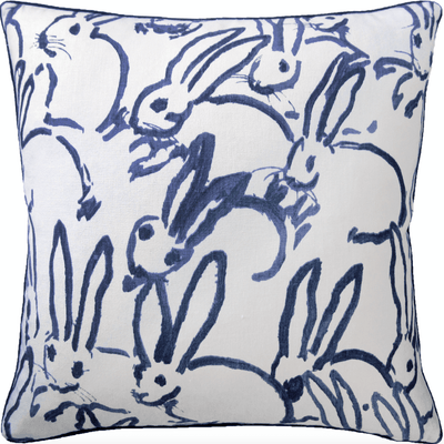 Le Lapin Pillow (Navy) - Sarah Virginia Home