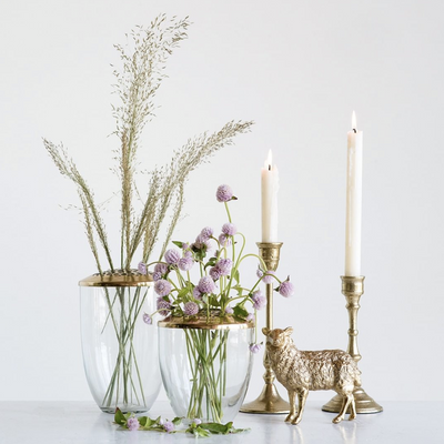 Brass Flower Frog - Sarah Virginia Home